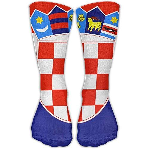 NNMAW Design Flag of Croatia Fashion Art Boots Sock for Women &Girl