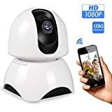 1080P 2.4GHz HD Wifi IP Camera, Monition Detection,Two-way Audio,Home Security Baby Monitor Max Support 128GB Micro SD for Indoor All-Round Detect Alert(Free App supports iOS Android)