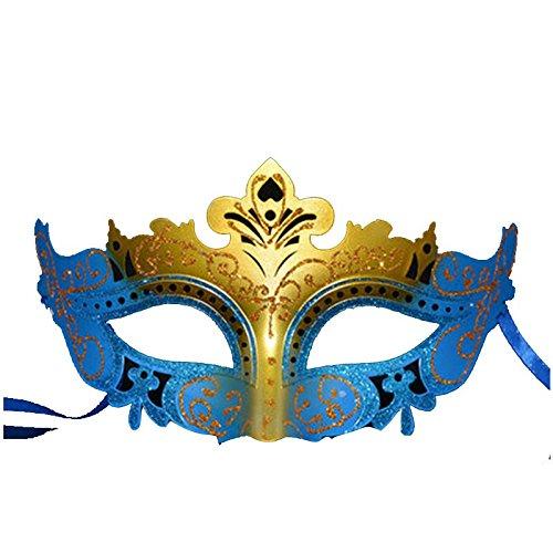 zessin Maske halb Gesicht sexy Maske Make-up Kostüm Ball Maske blau Masquerade ()