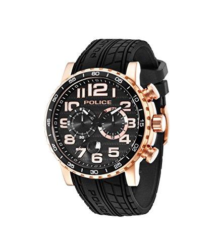 Police Herren-Armbanduhr POWERSLIDE Chronograph Quarz 14443JSR/02P