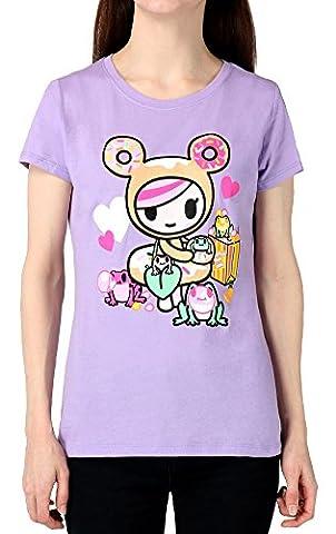 Tokidoki - T-Shirt - Manches Courtes - Femme - violet - Large