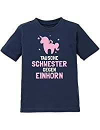 Tausche Schwester gegen Einhorn Kinder T-Shirt by Shirtcity