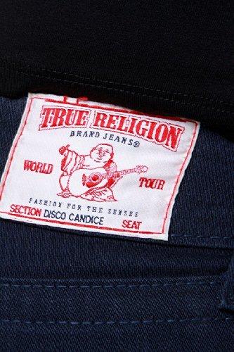 True Religion Jean Flare DISCO CANDICE W/CRYSTAL H Bleu foncé