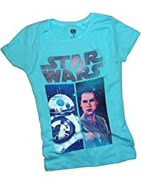 Rey & BB-8 Montage -- Star Wars Ep VII: The Force Awakens Tween Girls T-Shirt