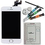 Trop Saint® LCD Für iPhone 5S Display Einheit Weiß, VORMONTIERT Komplett Glas Touch Screen + Kamera + Home Button WHITE