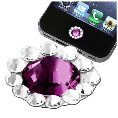 Generation 4. Ipad 3g Verizon (SODIAL(Wz.) Home Button Sticker Home-Taste Plakette Aufkleber kompatibel mit Apple iPhone / iPad / iPod touch Purpur Diamant)