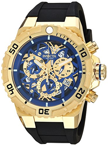 Invicta Men's 'Pro Diver' Quartz Stainless Steel and Silicone Casual Watch, Color:Black (Model: 26071)