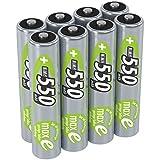ANSMANN Micro AAA Akku 1,2V 550mAh - NiMH Accu mit maxE Technologie für Hohe Langlebigkeit - Kein Memory Effekt Akkus - Wiederaufladbare Batterien für Geräte mit Hohem Stromverbrauch - 8 Stück