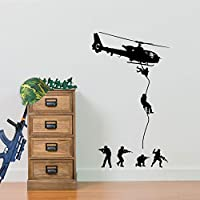Army Heli Drop 02, Army men, Helicopter Wall Decorations Window Stickers Wall Decor Wall Stickers Wall Art Wall Decals Stickers Wall Decal Decals Mural Décor Diy Deco Removable Wall Decals Colorful Stickers