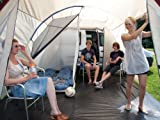 skandika Camper Tramp Bus-Vorzelt 16034, sand/rot, 370x320, 16034 -