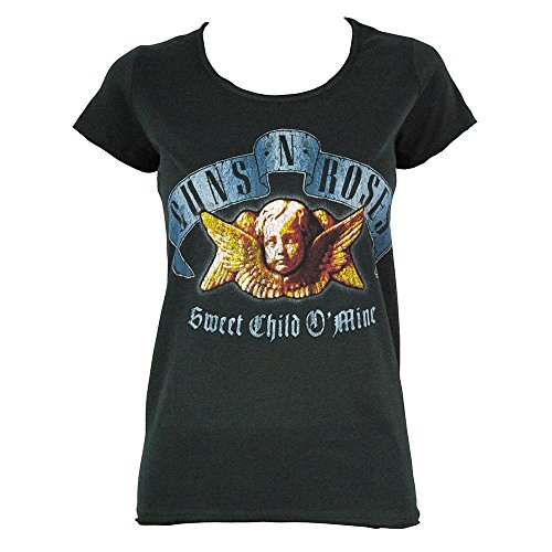Guns N Roses Shirt Frauen - Frauen Amplified-Sweet Child O' Mine-t-shirt Extra Groß - Eu 44 Holzkohle (Design-junioren Tag Tee)