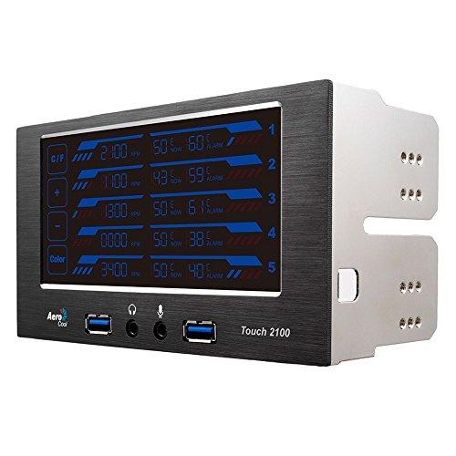 Aerocool - EN51965 - Contrôleur de ventilateur avec Ecran LCD tactile - 5 canaux - 2 USB 3.0