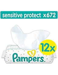 Pampers Sensitive Protect Baby Wipes - 12 Packs (672 Wipes)