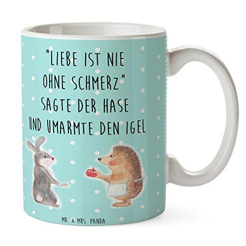 Mr. & Mrs. Panda Tasse Liebe ist nie ohne Schmerz - 100% handmade in Norddeutschland - Liebe Spruch,...