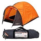 Milestone - Tenda a cupola da campeggio Super per due persone, colore arancione