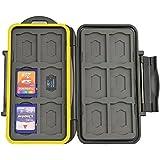 JJC Multi Memory Card Case MC-SDMSD24 Speicherkarten Schutzbox für 12 Stück SDHC und 12 Stück MicroSD Cards - extreme Wasserdicht und Stoßfest Box Safe Tasche Etui Aufbewahrungsbox Hülle