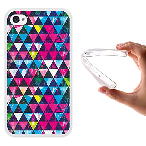 iPhone 4 iPhone 4S Hülle, WoowCase® [Hybrid] Handyhülle PC + Silikon für [ iPhone 4 iPhone 4S ] Husky-Hunde Sammlung Tier Designs Handytasche Handy Cover Case Schutzhülle - Transparent Housse Gel iPhone 4 iPhone 4S Transparent D0448