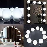 shuhong Makeup Light Spiegel Für Kosmetikspiegel Verstellbarer Kosmetikspiegel (6500K) Helligkeit Dimmbar Und Speicherfunktion Für Schminktisch,Whitelight