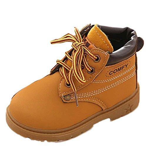 Chaussures de bébé,Fulltime® Hiver Armée Bébé Enfant Style de Martin Bottes chaussures chaudes