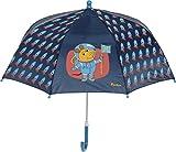 Playshoes DIE MAUS Jungen Kinder Maus Weltraum Regenschirm, Blau (Marine 11), One Size