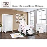 Babyzimmer Enni Hochglanz 19-tlg. mit 2 türigem Kl. + Textilien Matrosin, Rot