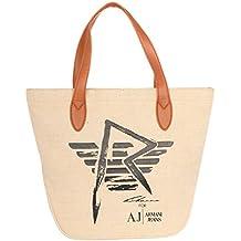 Armani Jeans - Bolso de asas para mujer Beige beige c64277eba0f7