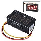 Mini Pannelli Voltmetro Tester Digitale DC 0-100V Rosso 3 Cifre