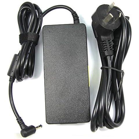 Delippo® 120W AC Adaptador Cargador 19.5V 6.15A ordenador portátil reemplazo Fuente de alimentación para MSI GE70 GE60 GE62 LENOVO Y460 Y580 Y480 Y560(5.5*2.5mm)[26 meses de garantía]