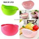 #7: Ketsaal Rice,Pulses, Fruits,Vegetable,Noodles,Pasta,Washing Bowl & Strainer Good Quality & Perfect Size for Storing and Straining(Pack of 2)