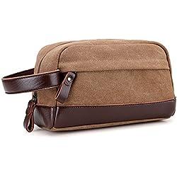 Young & Ming - Neceser organizador de viaje impermeable portátil Bolsa de mano compacta de viaje para hombre y mujer Neceser con asa