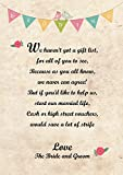10 Personalised Poem or RSVP Cards for any design *FREE DRAFT*