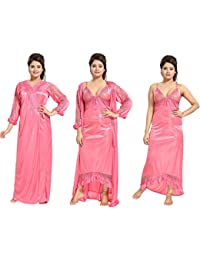 fcc72249b5 Amazon.in  Pinks - Nighties   Nightdresses   Sleep   Lounge Wear ...