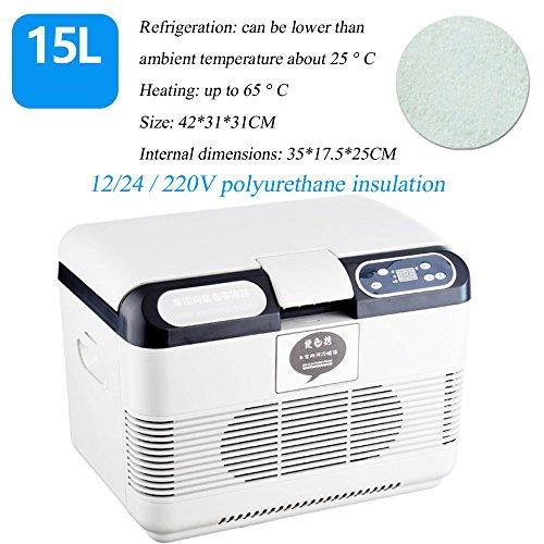 Réfrigérateur De Voiture 22L, Voiture Et Maison Réfrigération Double Usage Portable Mini Réfrigérateur 12 / 24V Voiture Spécifique Au Camion,15L