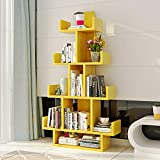 Bücherregal Chunlan 10-stöckige Regale, Multifunktionsregal, Schließfächer, 20 * 50 * 140cm (Farbe : Gelb)