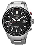 Seiko Mens Analogue Solar Powered Watch with Stainless Steel Strap SSF003J1