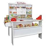 Roba Kaufladen Klassik in weiß aus Holz - XL Kaufmannsladen sehr standfest