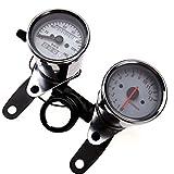 NEU 12V LED Mini Motorrad Licht Tachometer Tacho Kilometerzähler Mit