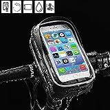 Fahrrad Handy Tasche Smart Bike Phone Griff Bar Tasche wasserdicht 360Grad drehbar Universal Radzierblende installieren können, auf beiden Vertikale & horizontale Rohr passend für 15,2cm Handy und unter Größe