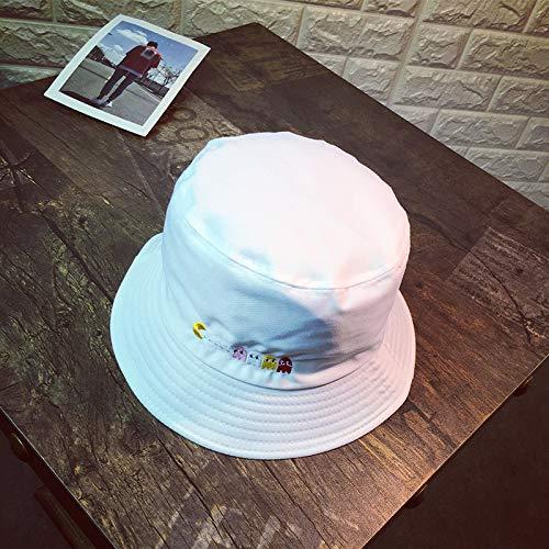 sdssup Fischer Hut Persönlichkeit Sonnenschirm Sonnenhut Männer und Frauen Gezeiten Hut Weiß M (56-58cm)