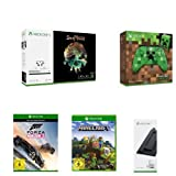 Xbox One S 1 TB Konsole + Controller + Standfuß + Sea of Thieves + Minecraft + Forza Horizon