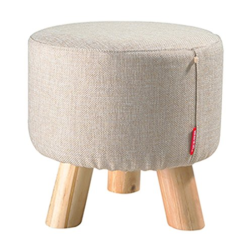 round-wooden-wood-support-upholstered-footstool-ottoman-pouffe-chair-stool-fabric-cover-3-legs-beige