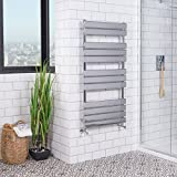 Designer Minimalist Flat Panel Heated Towel Rail Radiator 1200 x 600mm - Chrome