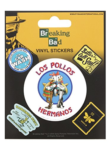 Preisvergleich Produktbild Breaking Bad-Los Pollos Hermanos Sticker Set, 10 X 12,5 cm