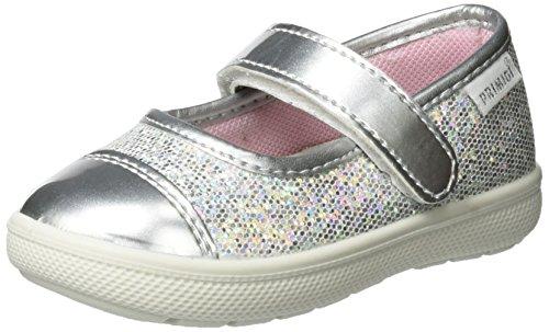 n Psn 7545 Lauflernschuhe, Silber (Argento/Argento), 24 EU (Baby Schuhe Mädchen Silber)
