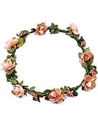 Mujeres chicas Boho Diademas de flores, Tukistore Tocado nupcial de la corona de la corona