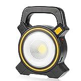 Coquimbo 30W Luz de Trabajo LED Portátil, USB Solar recargable COB Inspección de lámpara LED Flood luz de trabajo linterna para hogar, automóvil, camping y emergencia