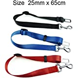 STRONG PET/DOG CAR TRAVEL SEAT BELT CLIP LEAD RESTRAINT HARNESS IN (red)