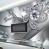 ZYT Art Deco 3D Tapete Für Privatanwender Zeitgenössisch Wandverkleidung Leinwand Stoff Klebstoff erforderlich Wandgemälde XXL