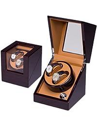 Remontoir Montres Automatique Remontoir Remontoir Dual Watch Remontoirs en Cuir Stockage Affichage Montre Remorque Cas Remontage Automatique Rotors (2 + 0,2 + 3,4 + 0,4 + 6)
