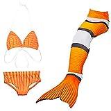 Filles sirène Cosplay Costume pour le bain sirène Shell maillot de bain ensembles